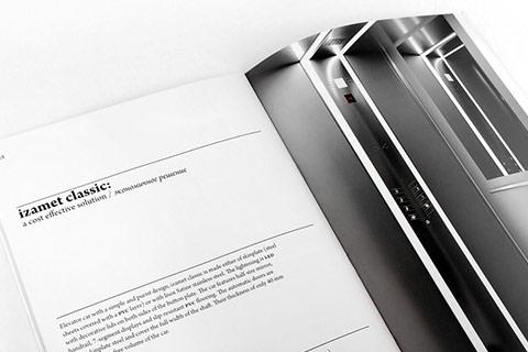Création et mise-en-page de catalogue pour ascenseurs