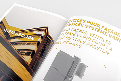 Conception et mise-en-page de catalogues pour société d'architecture internationale.