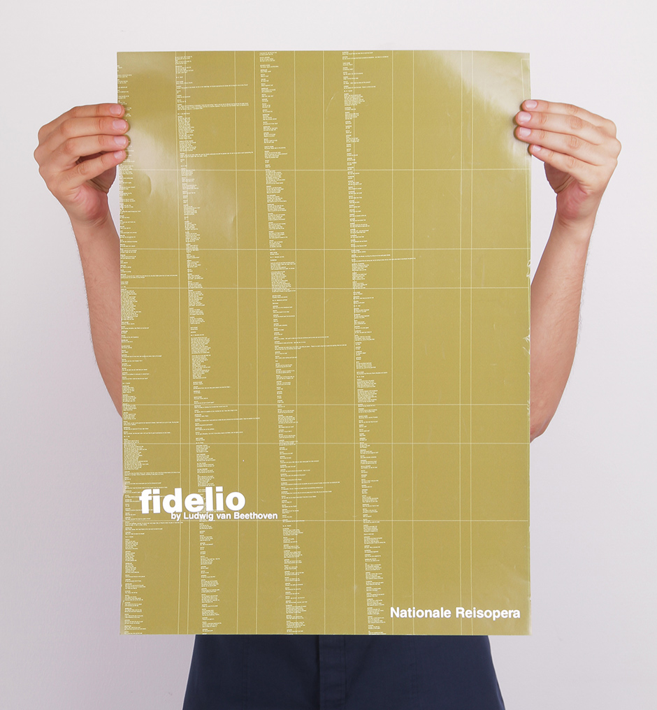 Poster design for Fidelio opera