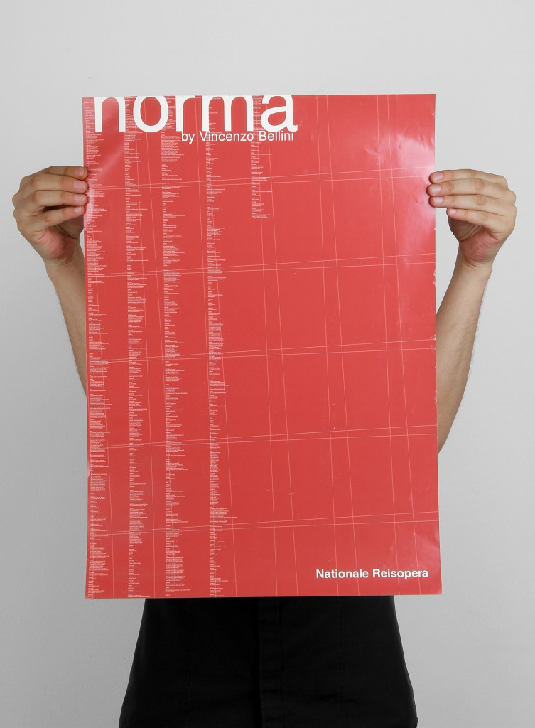 Poster design for Norma opera