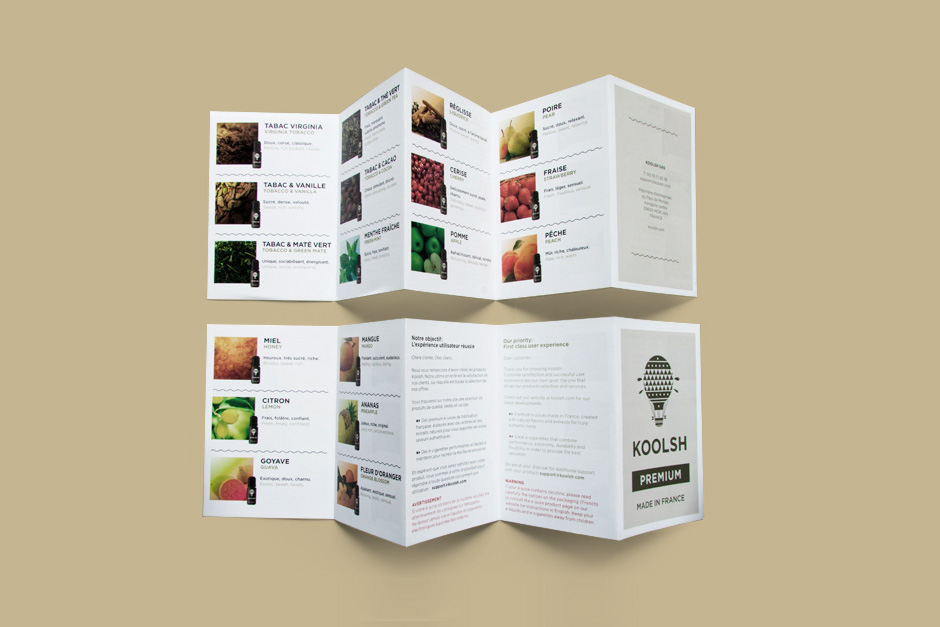 Brochure created for the products