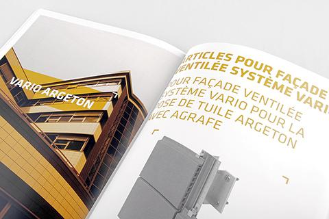 Conception et mise-en-page de catalogues pour société d'architecture internationale.