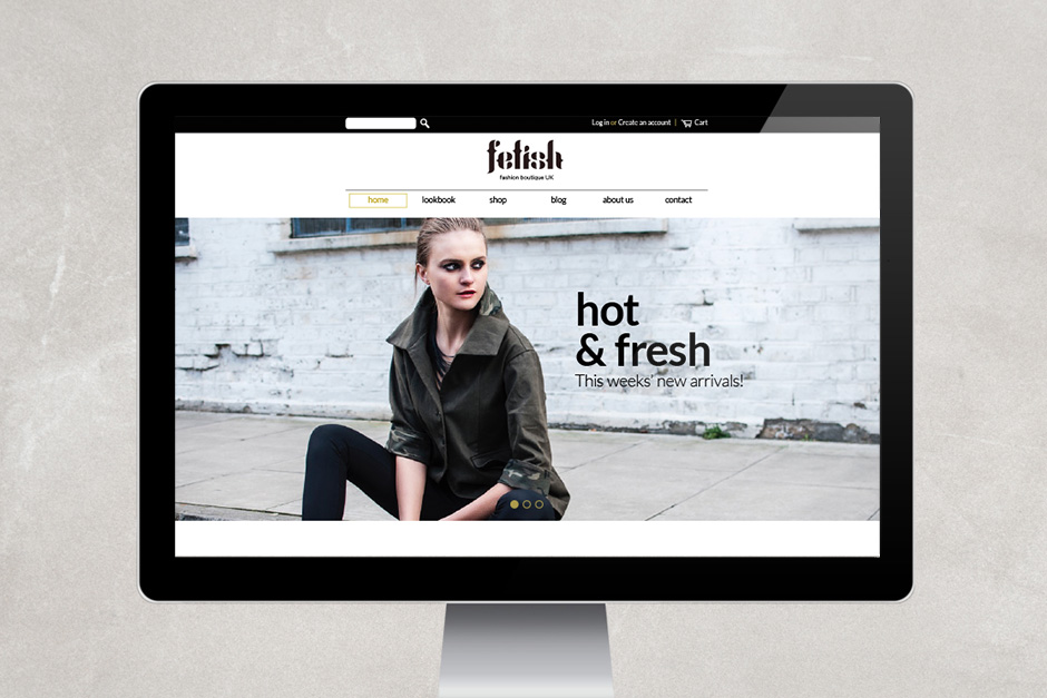 Fetish Fashion Homepage der Website