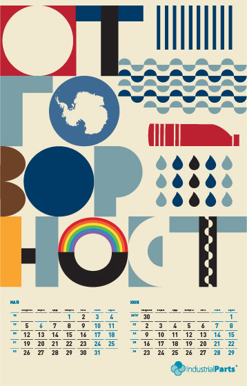 Corporate calendar - piece of art designed by Zen Studio