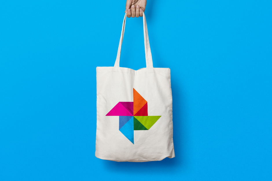 Tote bag with event logo