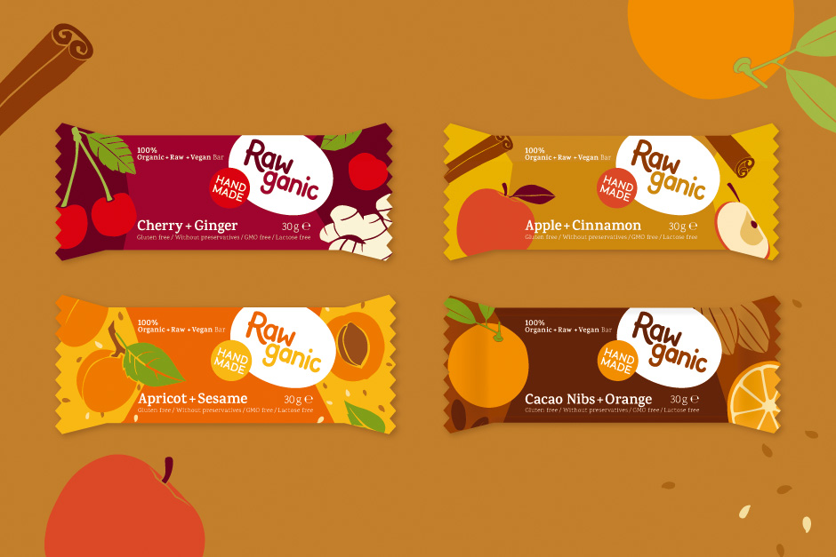 Raw dessert packagings
