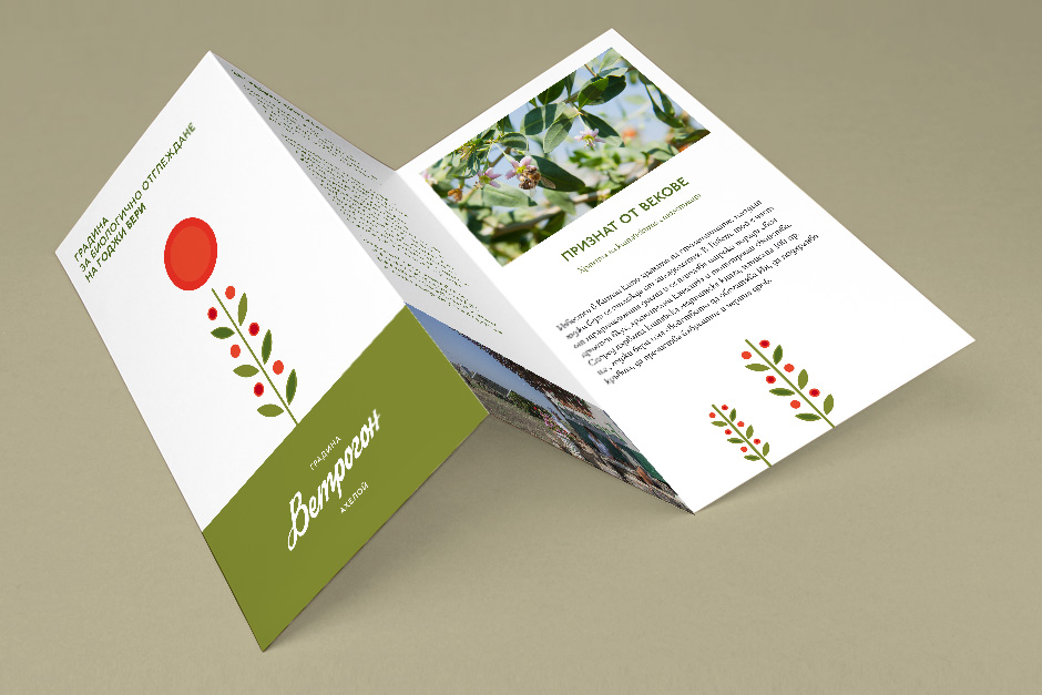 Brochure for an organic farmer