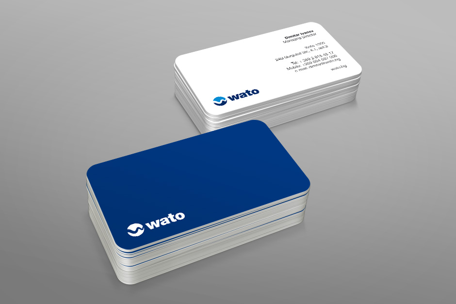 Businesscards for an industrial company