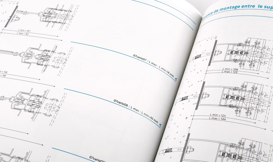 Catalog design for construction business