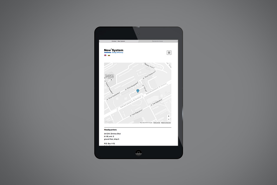 Mobile version of a website of a BMS provider