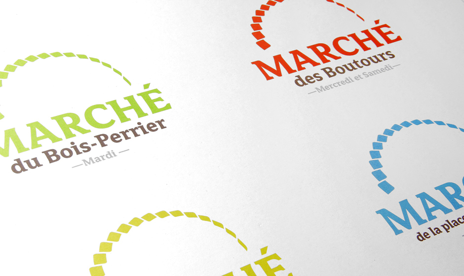 Logotype crée pour les marchés, appliqué sur plusieurs sites