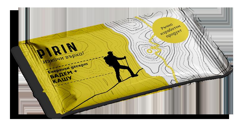 Красив графичен дизайн на опаковка за десертен блок