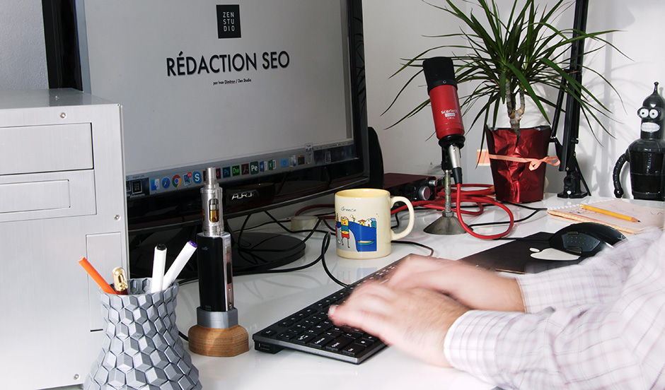 Conception-rédaction SEO en français par un rédacteur web de Zen Studio